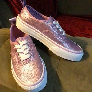Vans elastic lace glitter sneakers kids
